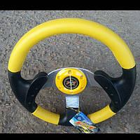 Руль Momo №579 (желтый) с переходником на ВАЗ 2107., фото 1