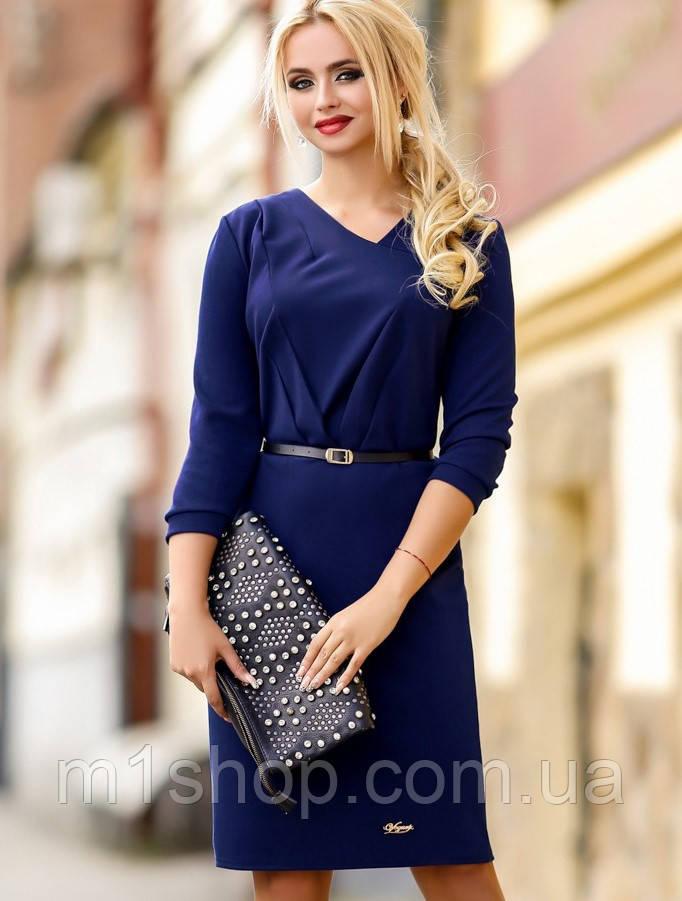 Женское темно-синее трикотажное платье (0982 svt)