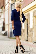 Женское темно-синее трикотажное платье (0982 svt), фото 3
