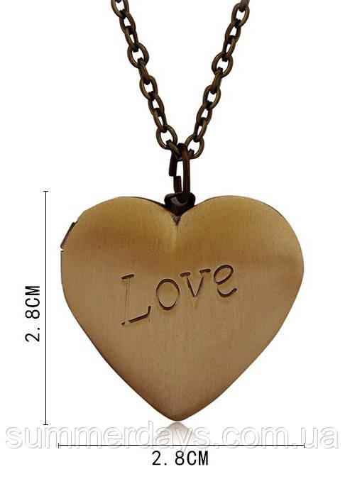 размеры кулона сердце в открытом виде