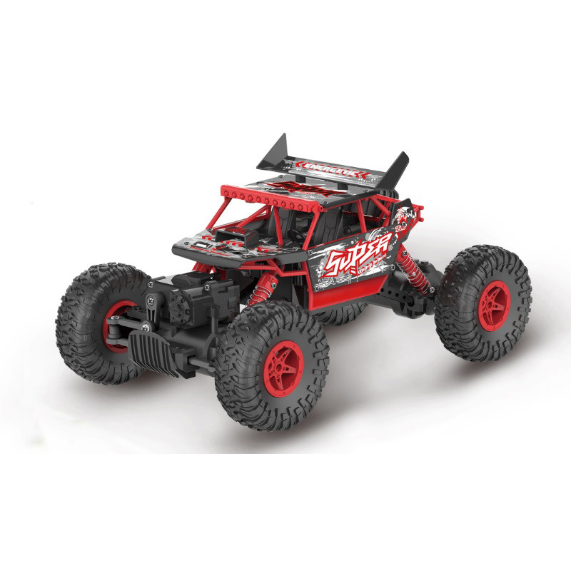 Радиоуправляемая игрушка SUNROZ Rock Climbing Car джип на р/у 1:18 4x4 Красный (SUN1371)