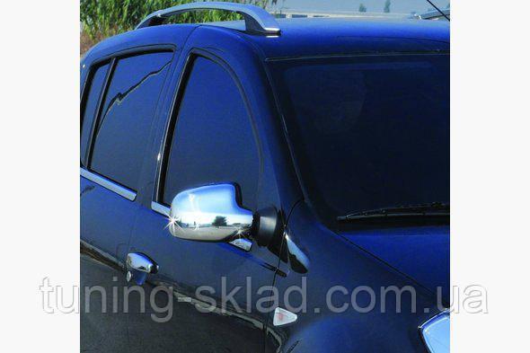 Хром накладки на зеркала Dacia Duster (Дачия Дастер)