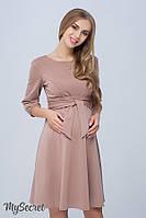 Платье для беременных и кормящих Gloria р. 44-50 ТМ Юла Мама Капучино DR-38.073