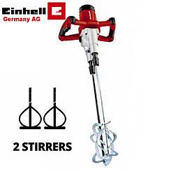 Миксер строительный ручной Einhell TE-MX 1600-2 CE Twin New (Бесплатная доставка)