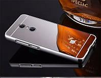 Зеркальный Чехол/Бампер для Xiaomi Redmi Note 4 Серый (Металлический), фото 1