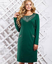 Платье с перфорацией на груди больших размеров (2337-2336-2335 svt), фото 3