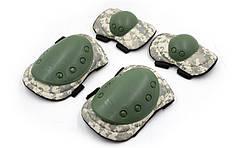 Защита тактическая наколенники, налокотники BC-4039-H (р-р XL, ABS, полиэстер 600D, пиксель ACU PAT)