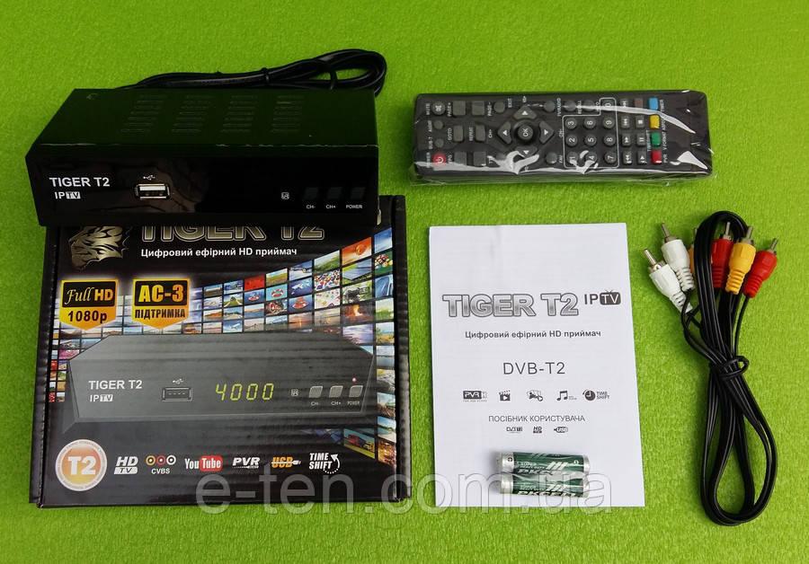 Цифровой эфирный HD приёмник Tiger Т2 IPTV / DVB-T2 (цифровое телевидение Т2)