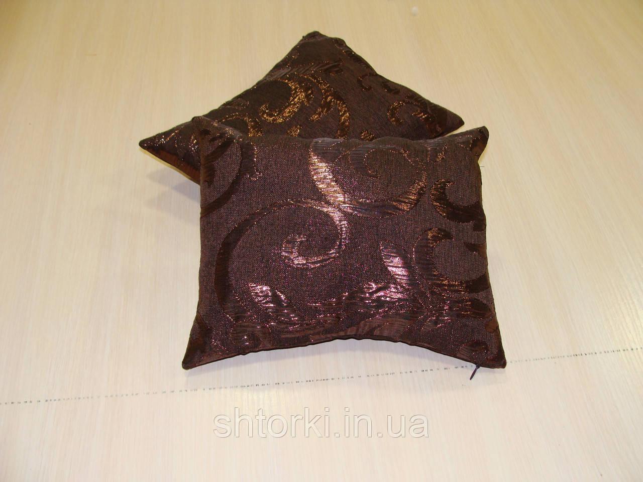 Комплект подушек бронзовые завитки 2шт