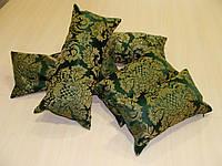 Комплект подушек зелень с золотым узором,5шт, фото 1