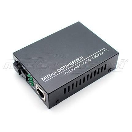Медиаконвертер 1310 WDM (IC+113), 10/100 Мбит одноволоконный Full/Half duplex, SC 25 км, фото 2