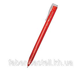Шариковая ручка Faber-Castell RX-5 автоматическая красная 0,5 мм, 545321