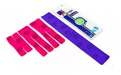 Кинезио тейп преднарезанный ANKLE (Kinesio tape) эластичный пластырь (тип I-20см, V-15см, Х-10см)