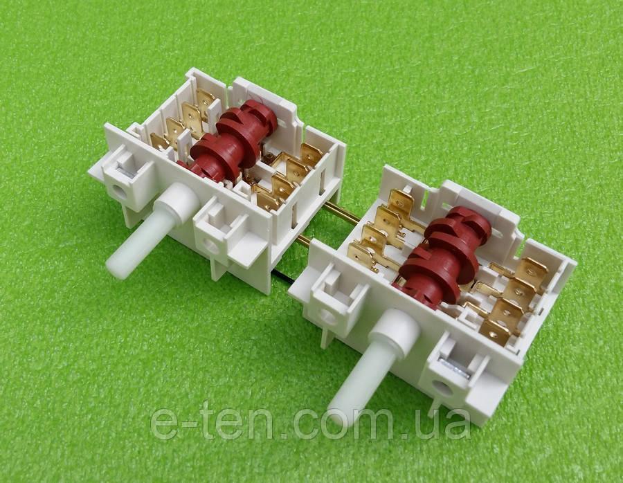 Переключатель режимов двойной семипозиционный DREEFS 5HE / 555 для конфорок электроплит GORENJE