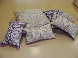 Копия Комплект подушек сирень и беж цветы,3шт, фото 3