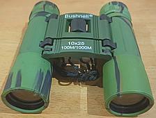 Влагозащищённый бинокль Bushnell 10x25 карманный с чехлом 10 крат !!! оптика для наблюдения