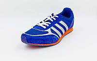 Кроссовки (р-р 40-46) AD 723-NV (верх-PL, PVC, подошва-RB, синий-оранжевый)