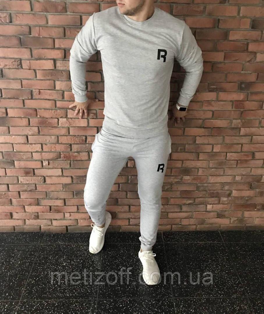 Мужской спортивный костюм reebok серый (копия) 399fd707782