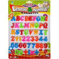 Набор английских букв и цифр магнитные 2,5см (пластик)
