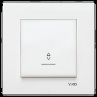 Проходной одно-клавишный выключатель с подсветкой Viko KARRE
