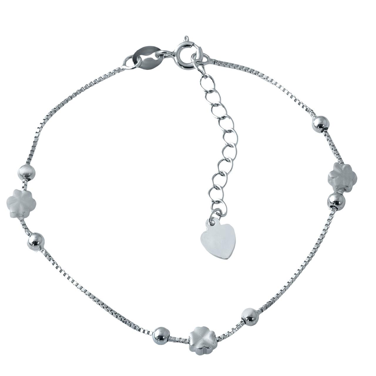 Родированный серебряный браслет 925 пробы без камней - Fashion Jewelry в  Киеве e61040c418fd0