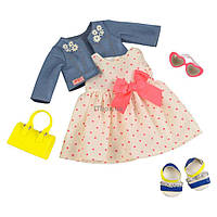 Аксессуар к кукле Our Generation Deluxe Платье с сердечками и жакетом (BD30246Z)
