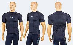 Футболка компрессионная c защитой HexPad ребер,плечей и позв. BC-3537 (лайкра,EVA,р-р L-XL,черный)