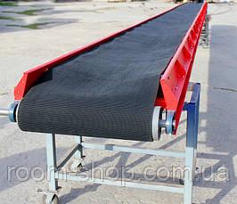 Ленточный транспортер (погрузчик, прямые) ширина 300 мм длинна 2 м., фото 2