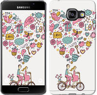 "Чехол на Samsung Galaxy A3 (2016) A310F Любовь v3 ""3568c-159-12506"""