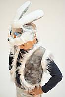 Карнавальный костюм Зайка зайчонок Заяц (серый)