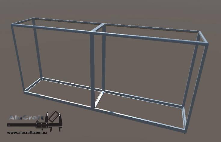 Торговый прилавок-стеллаж | Конструктор из торговых профилей М-2, фото 2