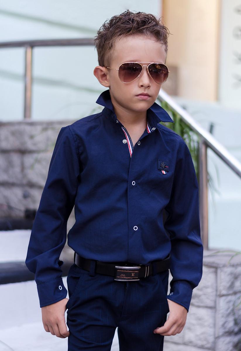"""Детская стильная рубашка для мальчика 621 """"Томми"""" в расцветках"""
