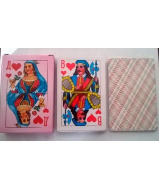 Карты игральные Дама розовая