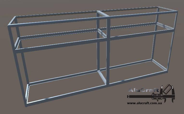 Прилавок из алюминиевого профиля | Конструктор из торговых профилей М-8, фото 2