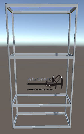 Витрина стеллаж для магазина | Конструктор из торговых профилей М-20, фото 2