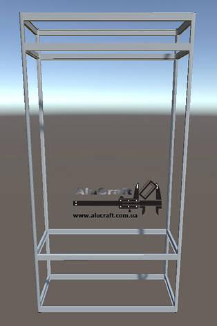 Стеллаж металлический   Конструктор из торговых профилей М-21, фото 2