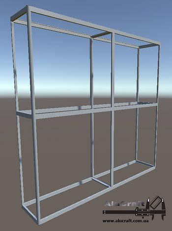 Торговое оборудование стеллажи | Конструктор из торговых профилей М-23, фото 2