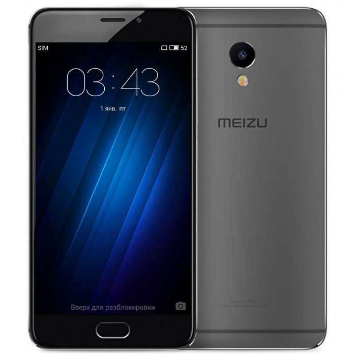 "Смартфон Meizu M3E 3/32GB Gray, 13/5Мп, 3100mAh, экран 5.5"" IPS, 2sim, GPS, 4G, Helio P10, 8 ядер"