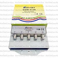 Коммутатор DiSEqC 4x1 EUROSKY DSW-4130 в кожухе
