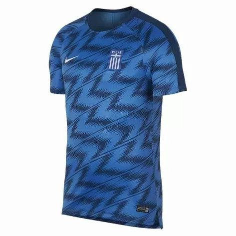 Футболка Nike GRE M NK DRY SQD TOP SS GX (оригинал, тренировочная сборной Греции)