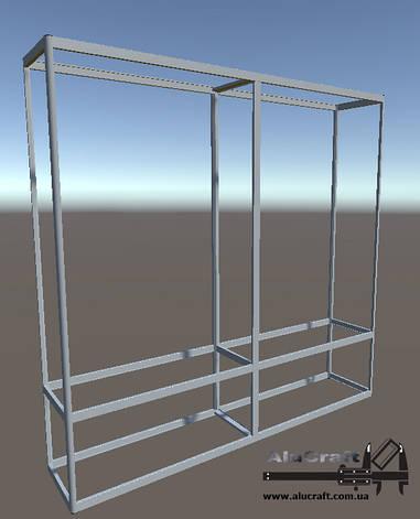 Торговые витрины стеллажи | Конструктор из торговых профилей М-26, фото 2