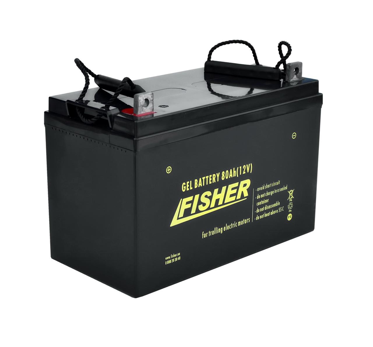 Гелевий акумулятор Fisher 80Ah / 12В