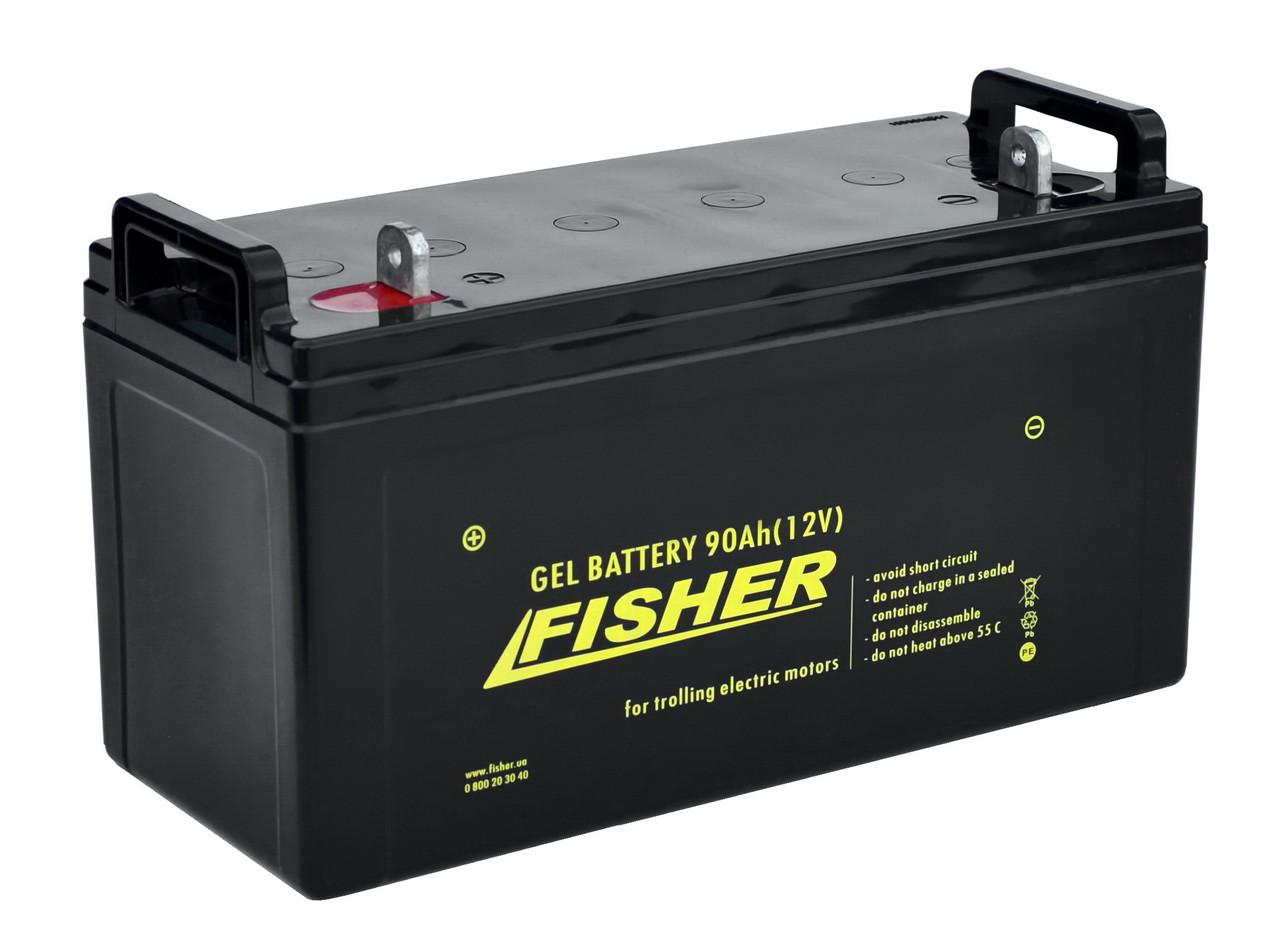 Гелевый аккумулятор Fisher 90Ah / 12В