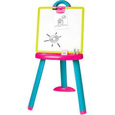 Мольберт со съемной доской (розово-голубой), Smoby Toys