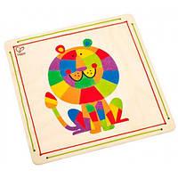 Мозаика цветным песком Король джунглей, Hape E5116