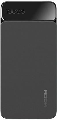 Внешний аккумулятор Power bank Rock P38 10000 mah with Digital Display Gray