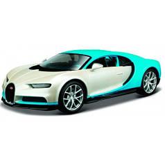 Модель автомобиля Bugatti Chiron бело-голубой, 1:24, Maisto