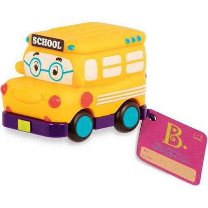 Машинка инерционная серии Забавний автопарк - Школьный автобус Battat BX1495Z, фото 2