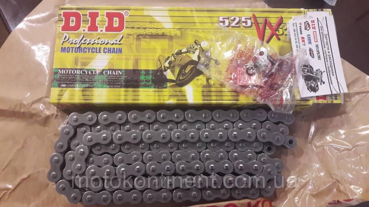 Мото ланцюг 525 DID 525VX 106 сталева для мотоцикла сальники типу X-Ring