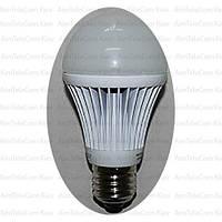 Лампочка светодиодиодная 220V 9Вт Е27 3000K тёплый свет диаметр 60мм